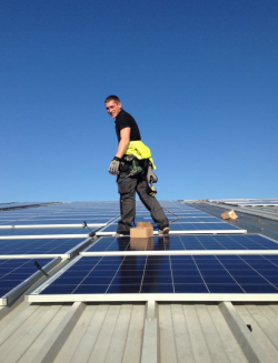 Solar panel installation at Rustins
